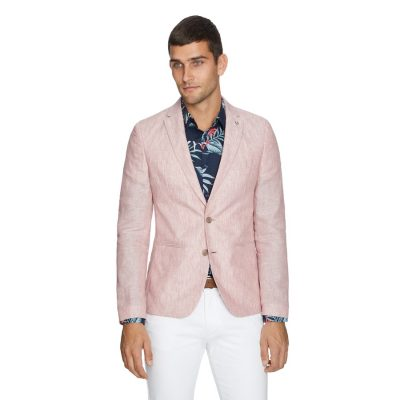 Fashion 4 Men - yd. York Linen Blazer Soft Red S