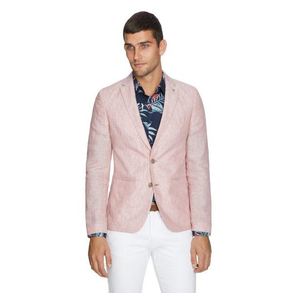 Fashion 4 Men - yd. York Linen Blazer Soft Red Xxl