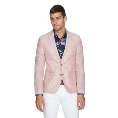 Fashion 4 Men - yd. York Linen Blazer Soft Red Xxxl
