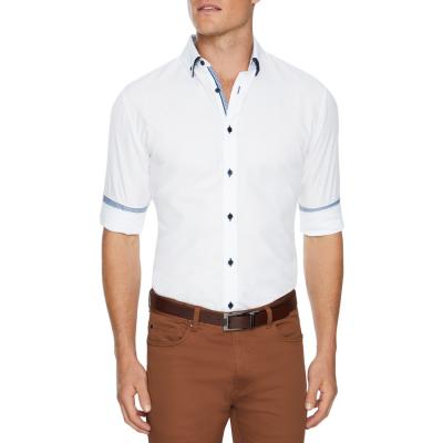 Fashion 4 Men - Tarocash Alexander Slim Textured Shirt White Xl
