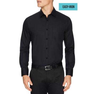 Fashion 4 Men - Tarocash Arthur Easy Iron Dress Shirt Black M