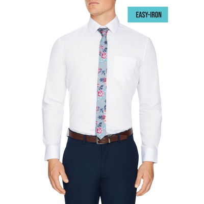 Fashion 4 Men - Tarocash Arthur Easy Iron Dress Shirt White M
