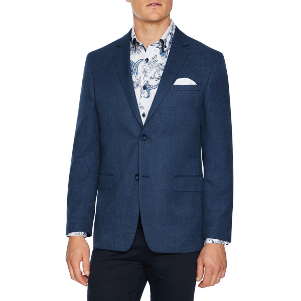 Fashion 4 Men - Tarocash Augusta Textured Blazer Blue M