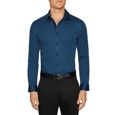 Fashion 4 Men - Tarocash Bahamas Slim Stretch Shirt Petrol L