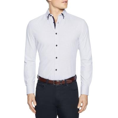 Fashion 4 Men - Tarocash Bayder Slim Textured Shirt Sky M