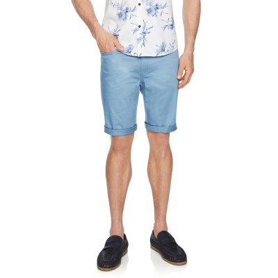 Fashion 4 Men - Tarocash Benji Stretch 5 Pocket Short Sky 36