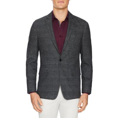 Fashion 4 Men - Tarocash Berkeley Check Stretch Blazer Charcoal S