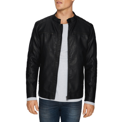 Fashion 4 Men - Tarocash Bronx Biker Jacket Black L