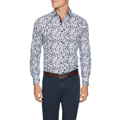 Fashion 4 Men - Tarocash Cameron Floral Print Shirt White S