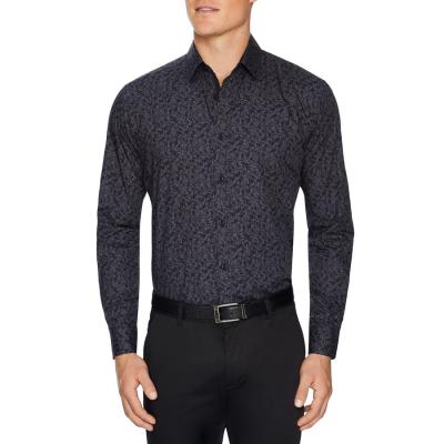Fashion 4 Men - Tarocash Carrington Mini Floral Shirt Charcoal M