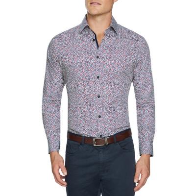 Fashion 4 Men - Tarocash Clarke Floral Print Shirt Burgundy 5 Xl