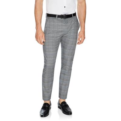 Fashion 4 Men - Tarocash Cooper Slim Check Pant Charcoal 35
