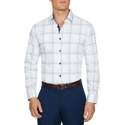 Fashion 4 Men - Tarocash Cooper Slim Check Shirt White L