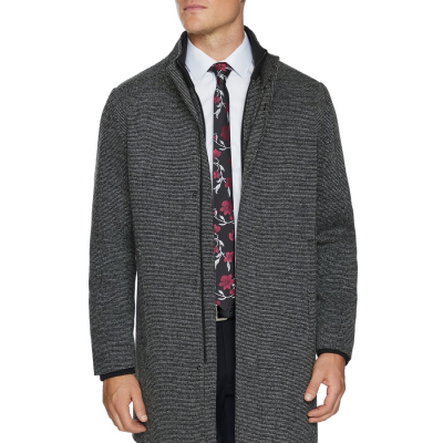 Fashion 4 Men - Tarocash Eclipse Textured Coat Charcoal Xxxl