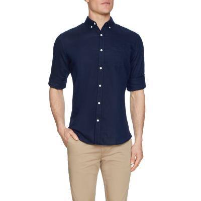 Fashion 4 Men - Tarocash Elliot Linen Shirt Midnight Xl