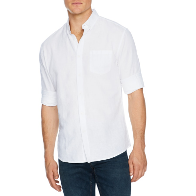 Fashion 4 Men - Tarocash Elliot Linen Shirt White L