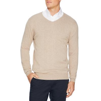 Fashion 4 Men - Tarocash Essential V Neck Knit Sand L