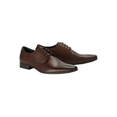 Fashion 4 Men - Tarocash Felix Textured Dress Shoe Chocolate 8