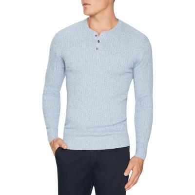 Fashion 4 Men - Tarocash Ferguson Rib Henley Sky L