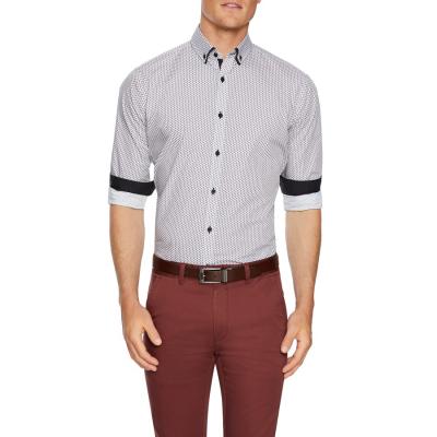 Fashion 4 Men - Tarocash Finch Geo Print Shirt White Xxxl