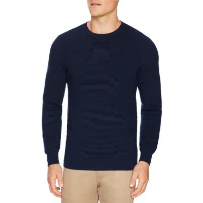Fashion 4 Men - Tarocash Gitano Textured Knit Navy M