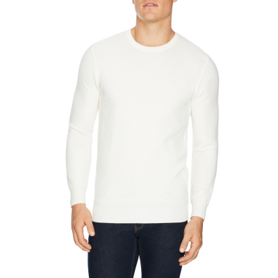 Fashion 4 Men - Tarocash Gitano Textured Knit Winter White Xs