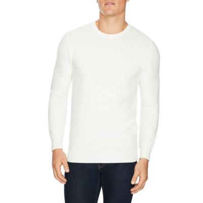 Fashion 4 Men - Tarocash Gitano Textured Knit Winter White Xxxl