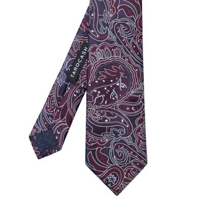 Fashion 4 Men - Tarocash Hamilton Paisley Tie Burgundy 1