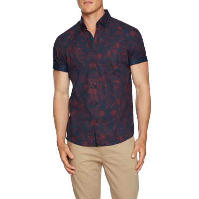 Fashion 4 Men - Tarocash Hampton Floral Shirt Navy Xxl