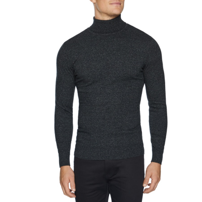 Fashion 4 Men - Tarocash Hans Roll Neck Knit Charcoal Xl