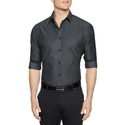 Fashion 4 Men - Tarocash Hazley Stripe Shirt Charcoal Xxxl