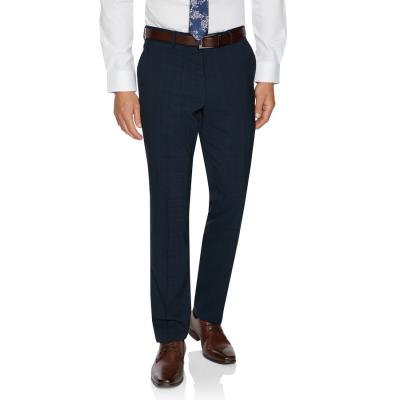 Fashion 4 Men - Tarocash Kingsley Slim Check Pant Navy 30