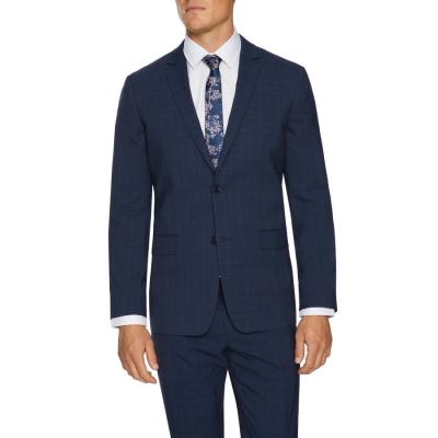 Fashion 4 Men - Tarocash Kingsley Slim Check Suit Jacket Navy 34