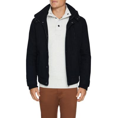 Fashion 4 Men - Tarocash Leo Wool Blend Bomber Jacket Black L