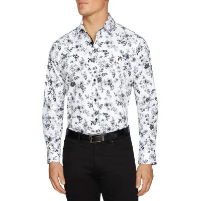 Fashion 4 Men - Tarocash Lexton Floral Print Shirt White Xxl