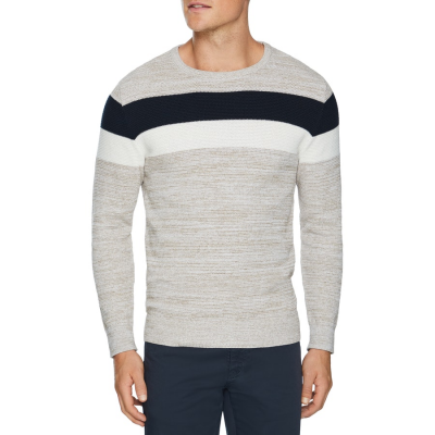 Fashion 4 Men - Tarocash Liberty Textured Knit Oatmeal L
