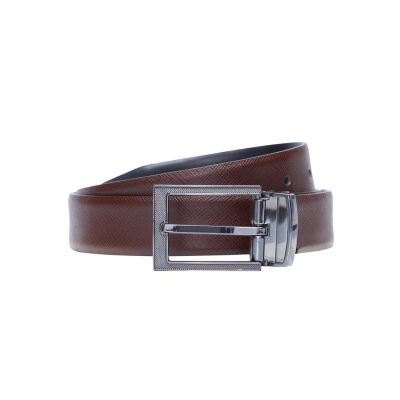 Fashion 4 Men - Tarocash Manhattan Prong Belt Choc/Blk 40
