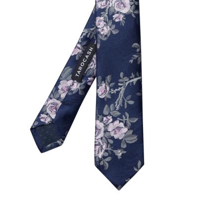 Fashion 4 Men - Tarocash Marshall Floral Tie Navy 1