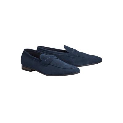 Fashion 4 Men - Tarocash Miguel Suede Loafer Navy 11