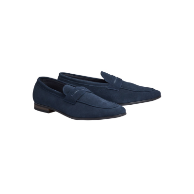 Fashion 4 Men - Tarocash Miguel Suede Loafer Navy 9
