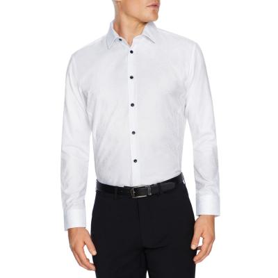 Fashion 4 Men - Tarocash Monroe Jacquard Dress Shirt White M