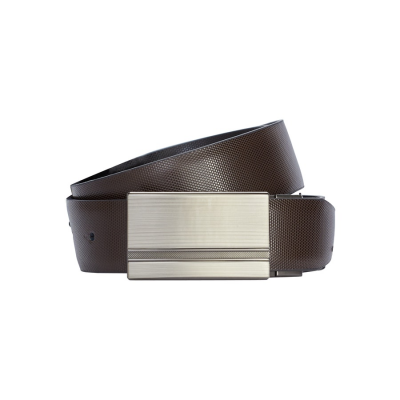 Fashion 4 Men - Tarocash Noah Textured Reversible Belt Choc/Blk 36