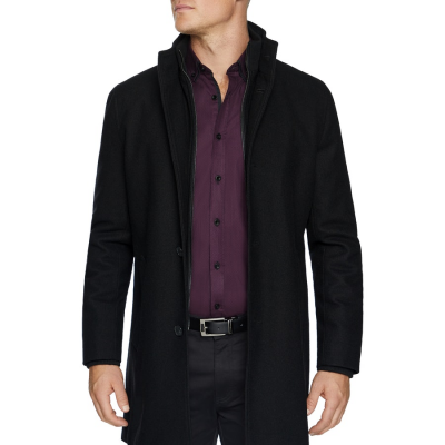 Fashion 4 Men - Tarocash Northfield Wool Blend Coat Black Xxl