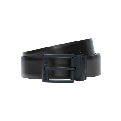 Fashion 4 Men - Tarocash Onyx Prong Belt Black/Choc 46