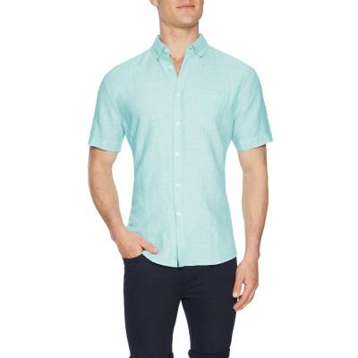 Fashion 4 Men - Tarocash Peterson Linen Shirt Aqua S