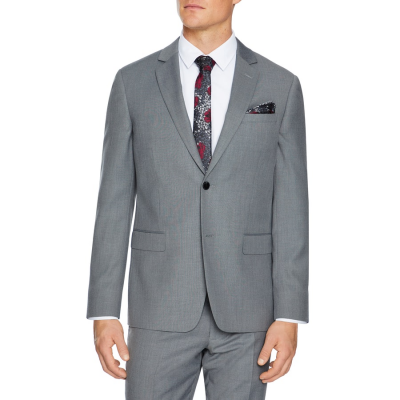 Fashion 4 Men - Tarocash Reggie Stretch Suit Jacket Silver 42