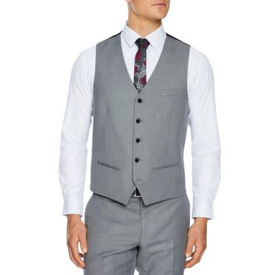 Fashion 4 Men - Tarocash Reggie Stretch Waistcoat Silver Xs