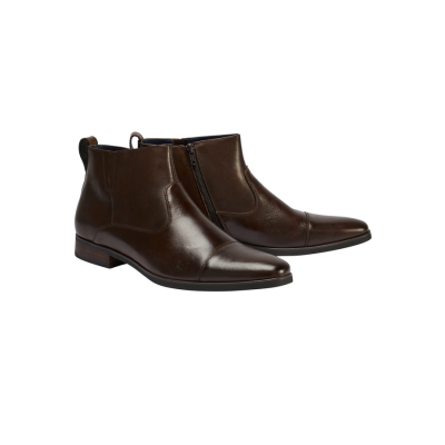 Fashion 4 Men - Tarocash Rome Side Zip Boot Chocolate 13