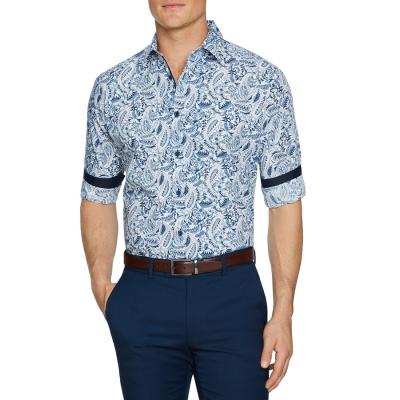 Fashion 4 Men - Tarocash Sandown Paisley Print Shirt Blue Xxxl