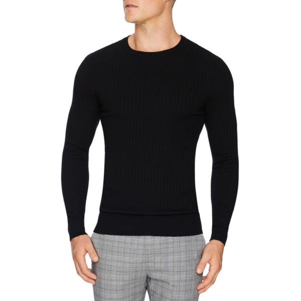 Fashion 4 Men - Tarocash Timberlake Rib Knit Black Xxxl